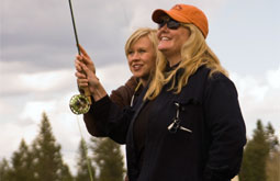 woman fly fish lesson