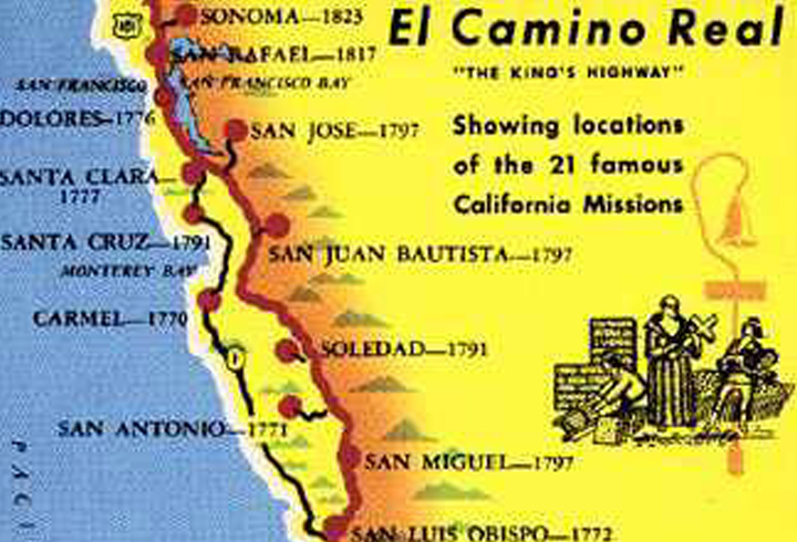 Map Of California Missions Locations.California Missions