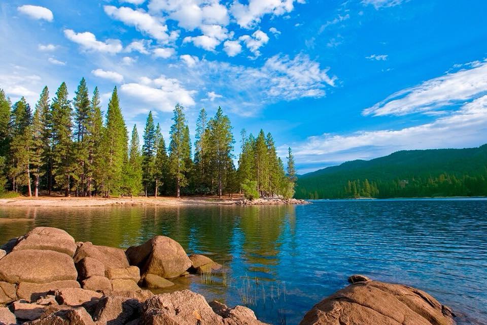 Wonderful nature landscape - Mountains and blue water lake